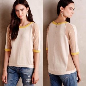 ANTHROPOLOGIE FIELD FLOWER Colorpatch Pullover
